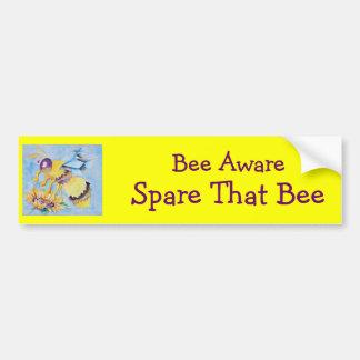 Bee Aware Bumper Sticker Car Bumper Sticker