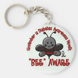 """Bee"" Aware Juvenile Diabetes Keychain"