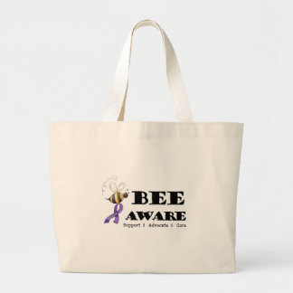 Bee Aware - Lupus Awareness Large Tote Bag