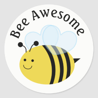 Bee Awesome Bumblebee Classic Round Sticker