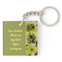BEE AWESOME DIABETIC KEYCHAIN