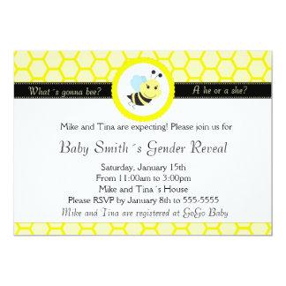 Bee Baby Shower Gender Reveal Invitation