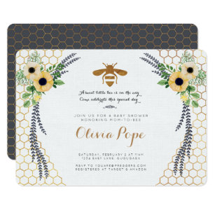 Bee baby shower invitations announcements zazzle bee baby shower invitation filmwisefo