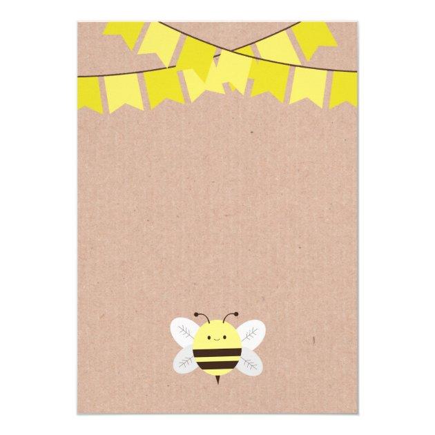Bee Baby Shower Invitation (back side)