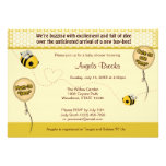 """BEE Baby Shower Invitation - Cute as can """"bee"""""""