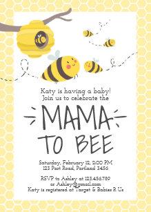 Bumble bee baby shower invitations announcements zazzle bee baby shower invitation honey comb bumble bee filmwisefo Choice Image