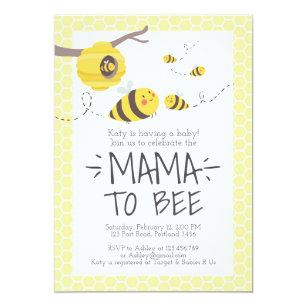 Perfect Bee Baby Shower Invitation Honey Comb Bumble Bee