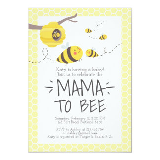 Bee Baby Shower Invitation Honey Comb Bumble