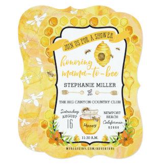 Delightful Bee Baby Shower Invitations