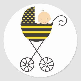 Bee Baby Stroller Stickers