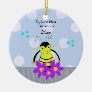 Bee Baby's First Christmas Ceramic Ornament