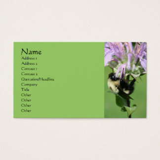 Bee Balm And Bee Nature Photography Business Card