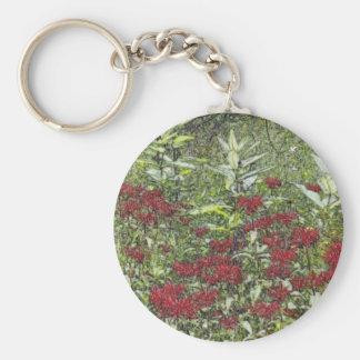 Bee Balm and Milkweed 1 Bookmark Keychain