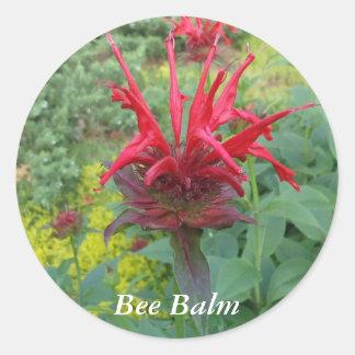 Bee Balm Classic Round Sticker