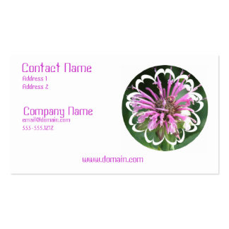 Bee Balm Flowers Business Card