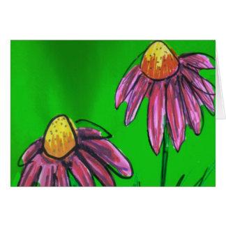 Bee Balm Flowers Card