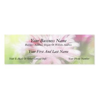Bee Balm (Monarda) Flowers - Abstract Mini Business Card
