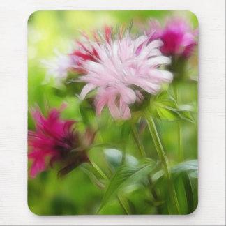 Bee Balm (Monarda) Flowers - Abstract Mouse Pad