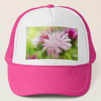 Bee Balm (Monarda) Flowers - Abstract Trucker Hat