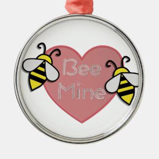 Bee Be Mine Metal Ornament