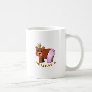 bee bear believer. coffee mug