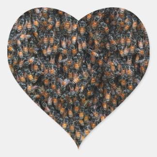 Bee Beautiful Hive Heart Sticker