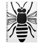 bee bee wasp bumble wasp hummel insect fly spiral notebook