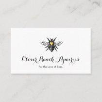 Bee Beekeeping Apairy Bumblebee Nature Business Card