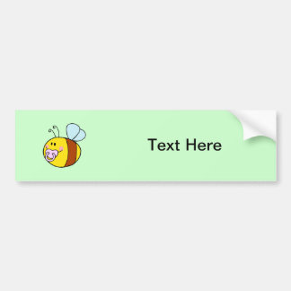 Bee Bees Bug Bugs Insect Cute Cartoon Animal Car Bumper Sticker