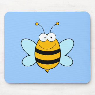 Bee Bees Bug Bugs Insect Cute Cartoon Animal Mouse Pad