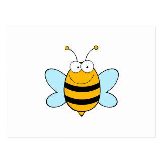Bee Bees Bug Bugs Insect Cute Cartoon Animal Postcard