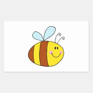 Bee Bees Bug Bugs Insect Cute Cartoon Animal Rectangular Sticker