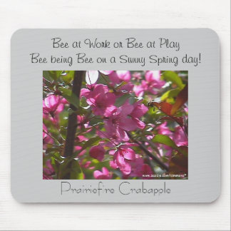 Bee being Bee ~ poetry Mouse Pad