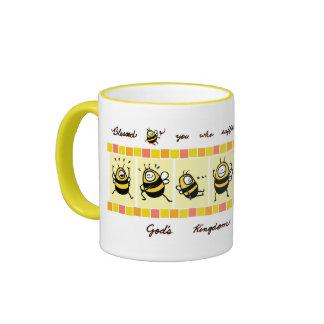 Bee© bendecido el Perserverer - amarillo Taza De Café