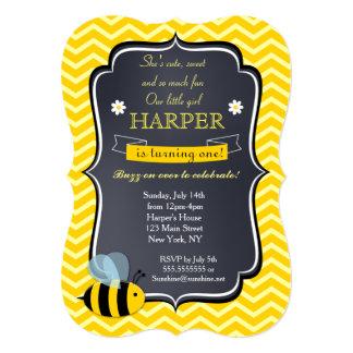 Bee Birthday Party Invitations