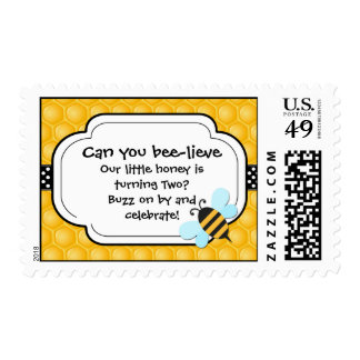 Bee Birthday Party Postage Stamp