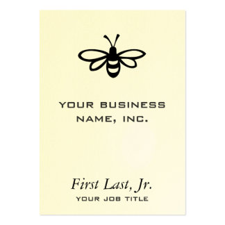 Bee [black] business card template