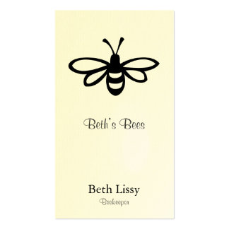 Bee [black] Double-Sided standard business cards (Pack of 100)