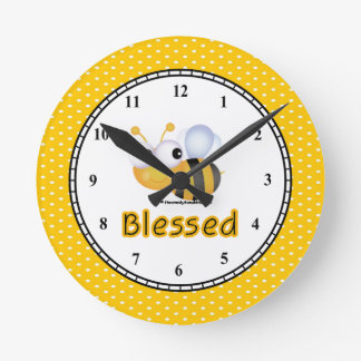 BEE Blessed Round Wall Clock