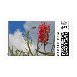 bee & bloom postage stamps