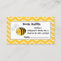 Bee Book Raffle Tickets, Baby Shower Game Enclosure Card