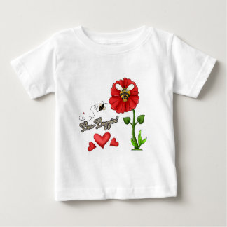 Bee Boppin Bee on Flower Baby T-Shirt