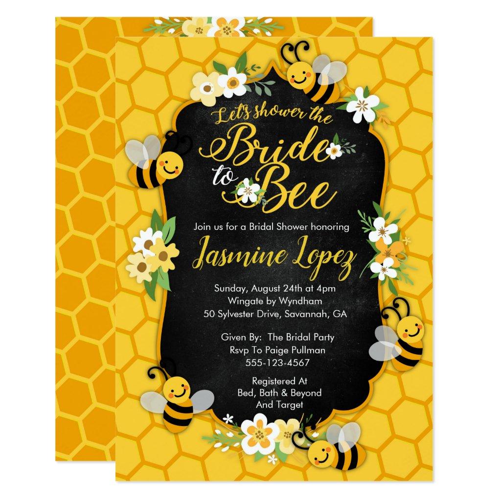 Bee Bridal Shower Invitation
