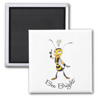 Bee Bright 2 Inch Square Magnet