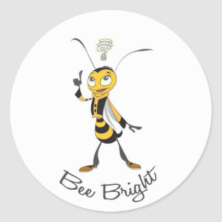 Bee Bright Round Stickers