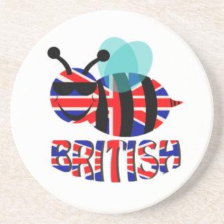 bee british drink coaster