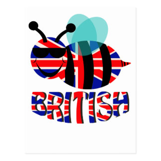 bee british postcard