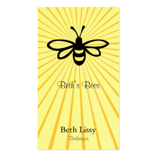 Bee Burst Double-Sided Standard Business Cards (Pack Of 100)