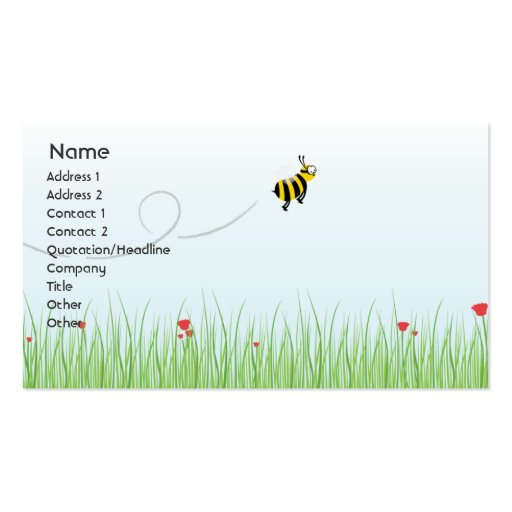 Bee business business card zazzle for Bee business cards