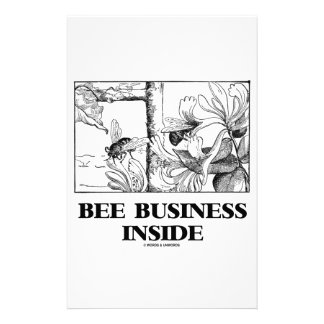 Bee Business Inside (Bees Foraging Nectar) Stationery
